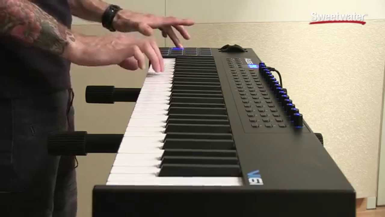 alesis vi61 usb midi keyboard controller demo by sweetwater youtube. Black Bedroom Furniture Sets. Home Design Ideas