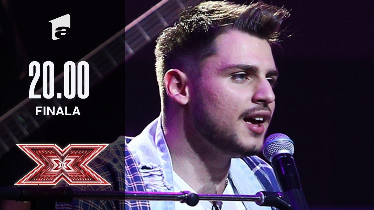 """Adrian Petrache cântă, plin de energie, piesa """"Another Brick In The Wall""""   Finala   X Factor 2020"""