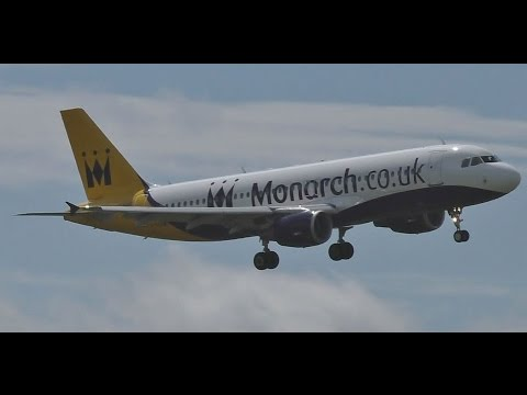10 Minutes of Crosswind Landings & Takeoffs at Birmingham Airport