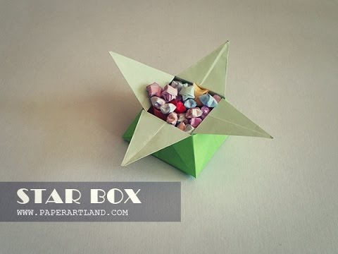 How To Make A A Cool Origami Box Star Box Youtube