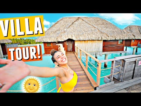 BORA BORA Over-Water Villa Tour!🌴🌞🌊 (This place is unreal)
