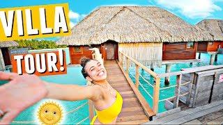 BORA BORA Over-Water Villa Tour!🌴🌞🌊 (This place is unreal)