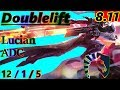 Doublelift as Lucian ADC - S8 Patch 8.11 - Full Gameplay