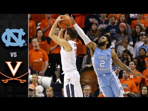 North Carolina vs. Virginia Basketball Highlights (2017-18)