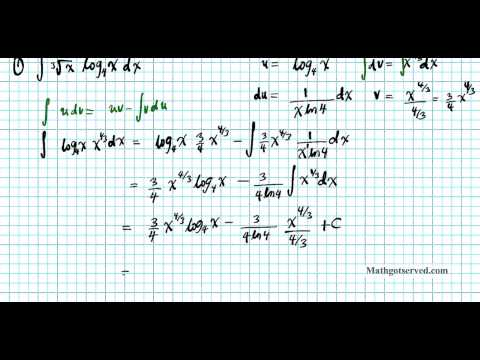Cu6L3 Integration by parts antidifferentiation
