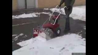 Chasse neige, déneigeuse à moteur honda avec lame et brosse, en vente chez euro-expos.net