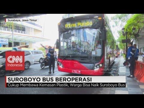 Canggih & Modern! Suroboyo Bus Resmi Beroperasi diresmikan Walikota Surabaya Risma