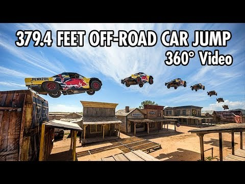Download Record-breaking 379.4 Feet Car Jump in 360 | Bryce Menzies in New Mexico