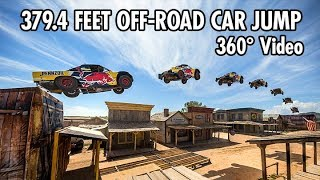 Record-breaking 379.4 Feet Car Jump in 360 | Bryce Menzies in New Mexico thumbnail