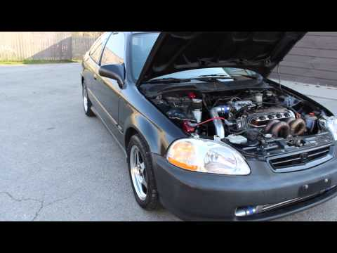 FOR SALE: 1998 Honda Civic D16Y8 Turbocharged - YouTube