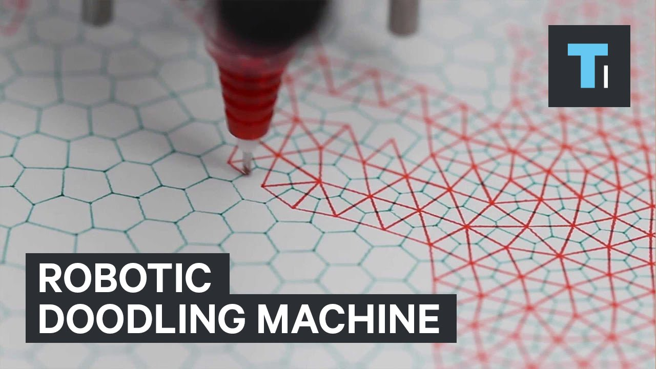 Robotic doodling machine - YouTube