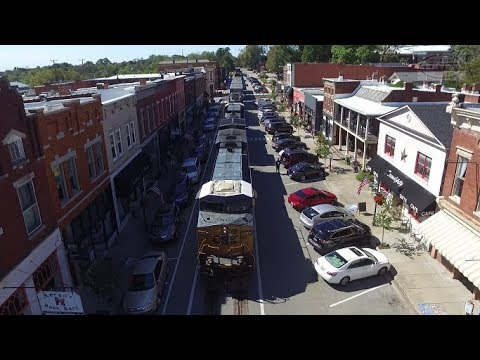 CSX Street Running at LaGrange KY! (Drone Video)