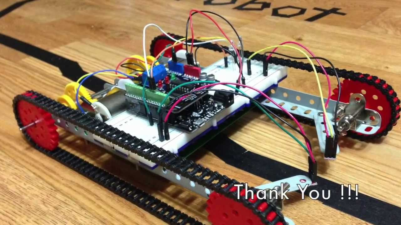 Arduino For Line Follower How To Build Your Own Obstacle Avoidance Using Infrared Led Photodiode Ardumoto And Circuit Yoobin S Family Youtube