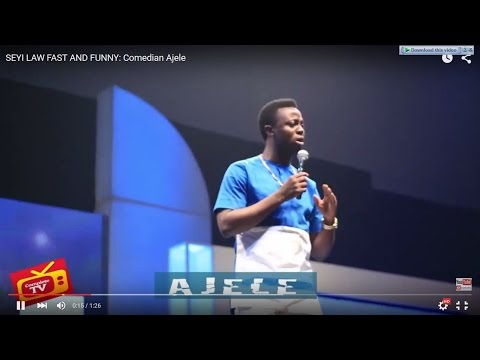 Video (stand-up): Ajele Performing at Fast and Funny Show (part 1)