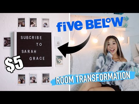 FIVE BELOW ROOM MAKEOVER!!