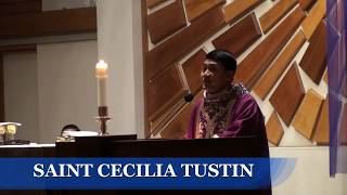 02 24 18 thánh lễ   Cha Thái Bảo  Saint Cecilia Catholic Tustin California 2018