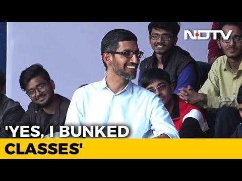 Yes, I Bunked Classes, Says Sunder Pichai At IIT-Kharagpur