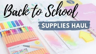 Back To School Supplies & Stationery Haul 2019  (+ Giveaway)