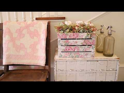 How to Make a flower Crate using paper napkins