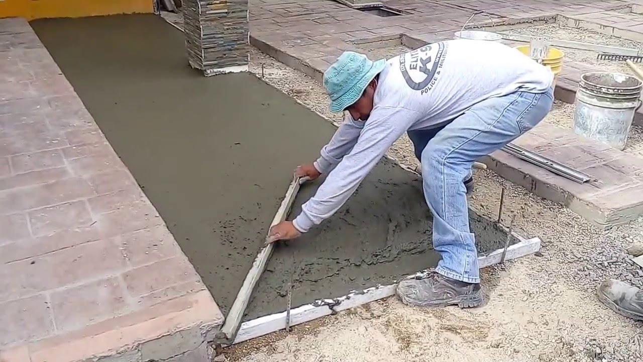 Firme de concreto youtube - Como hacer un piso de hormigon ...