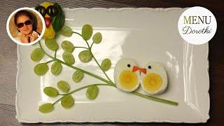 Ozdoby z jajek. Jak zrobić zwierzątka z jajek, którymi można ozdobić świąteczny stół. MENU Dorotki.