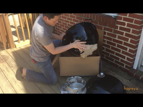 weber-original-kettle-premium-charcoal-grill---unboxing-&-assembly