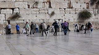 Western Wall In Jerusalem, Israel In The Holiest Place In Judaism. Stock Footage