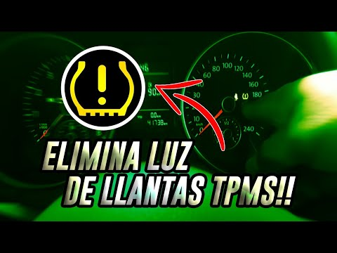 How to reset tire pressure sensor light/Luz de presión de llantas TPMS - YouTube