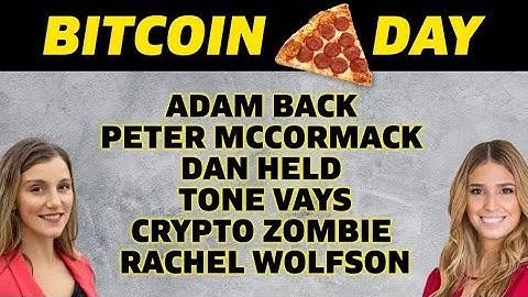 🎥BITCOIN PIZZA PARTY 🍕(Girl Gone Crypto) ADAM BACK - PETER MCCORMACK- DAN HELD - TONE VAYS!