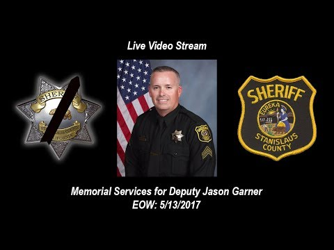 Join us for the Memorial Service Celebrating the Life of Deputy Jason Garner EOW May 5/13/2017