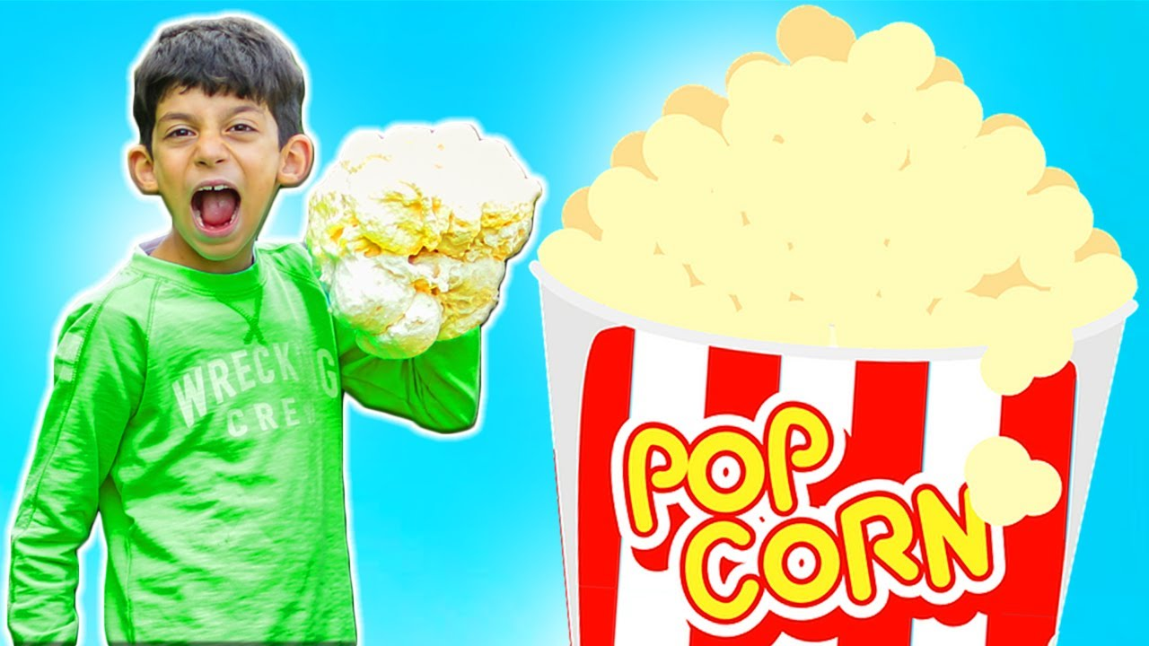 Jason makes world biggest popcorn for movie