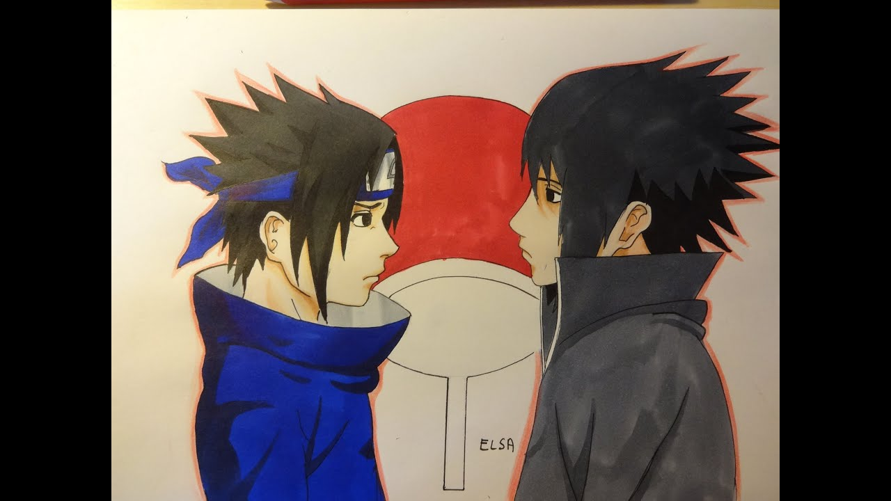 Drawing sasuke uchiha dessiner sasuke uchiha youtube - Comment dessiner sasuke ...