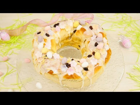 Osterkranz mit Marzipan & Rosinen | Oster- Gugelhupf