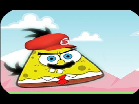 Super angry sponge, Spongebob, angry bird dan super mario bross jadi satu