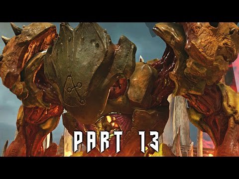 Guard Bosses in DOOM 4 Walkthrough Gameplay Part 13 (PS4)
