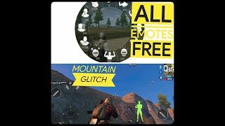 2 *Tricks* That 99.9℅ people don't know about it! Mountain Glitch and All emotes free in PUBG Mobile