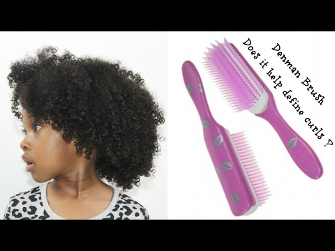 Defined Curls Natural Hair | Denman Brush Does it Work?