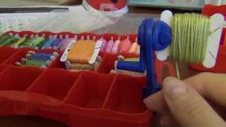 Как перемотать нитки мулине на бобинки  Рукодельный урок 1
