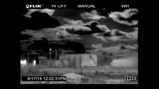 Marathon sugarhorn eagle ford shale facility flir video april 17, 2014 in karnes county, tx