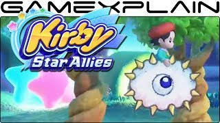 Kirby Star Allies - A New Move for Adeleine & Ribbon! (Gameplay)
