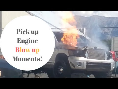Pick up Truck engine blow up moments! 😩😢