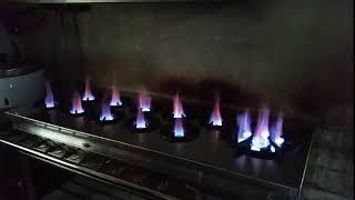 한국주방 가스절감형고화력렌지 1500간텍기상판스텐형 불…