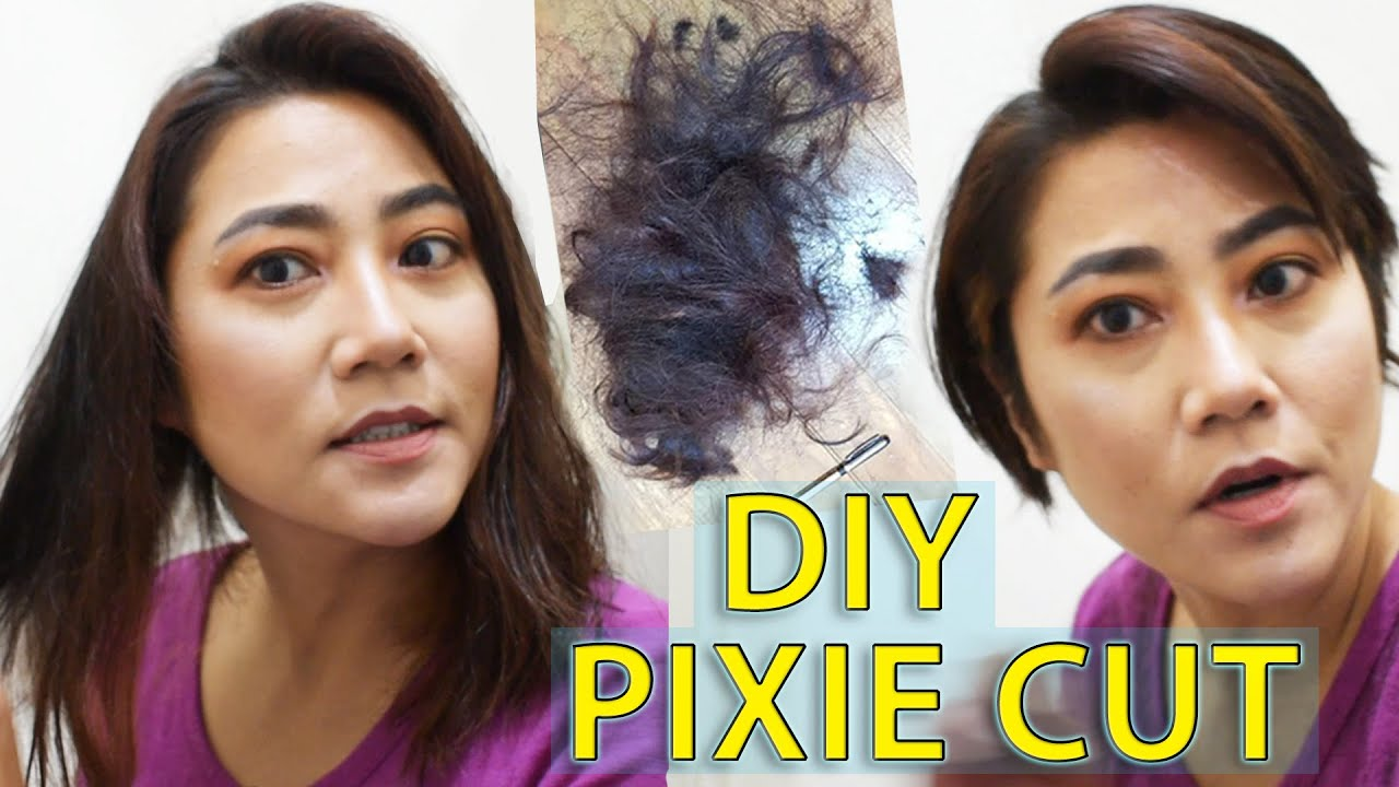 DIY Pixie Cut with clippers & scissors. Cutting my own hair ! (part 12)