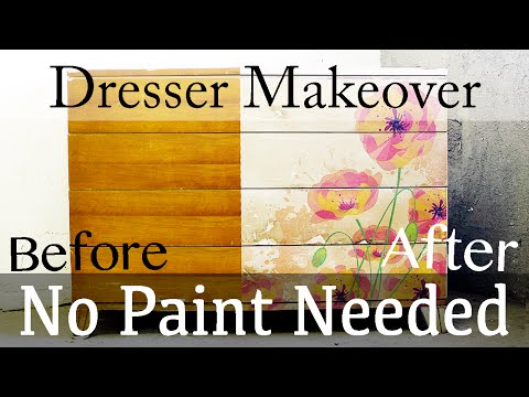 How to Decoupage an Image onto Furniture, Transfer Photo to Wood