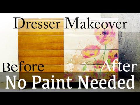 Cмотреть онлайн How to Decoupage an Image onto Furniture, Transfer Photo to Wood
