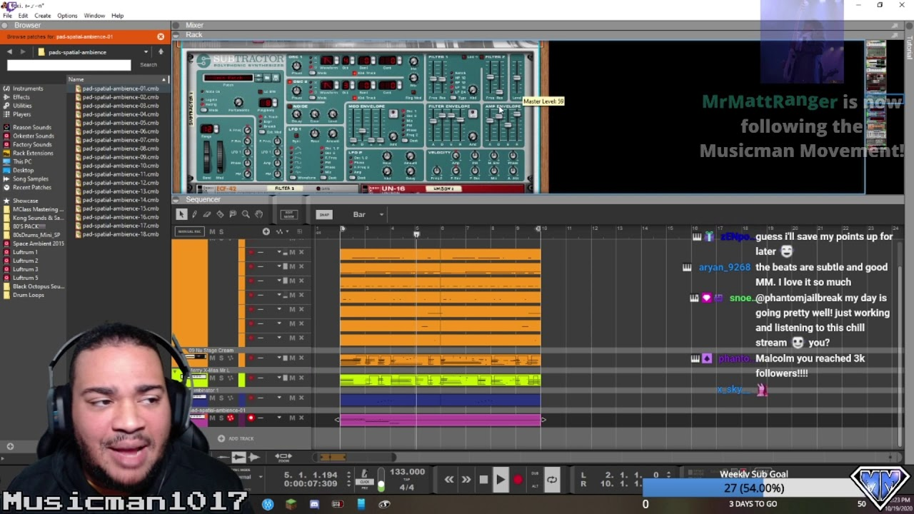 """Building a SONG FROM SCRATCH for our very first """"Build-A-Beat"""" Channel Point Redemption!"""