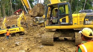 TRANS PAPUA Extreme Road Construction Work By Excavator And Dozer Bofuer Wendesi Manokwari