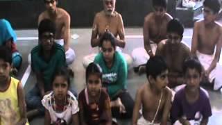 9 May 2015 Children Reciting Hayagreeva Stotram Summer Camp Pune Sri Balaji Mandir