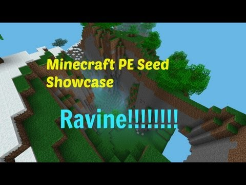 Minecraft PE Seed Showcase: Huge RAVINE