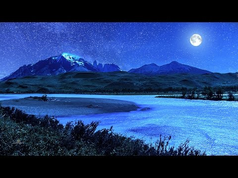 ☯ The Sweetest Sleep Music with Blue Nightlight ☯ Relaxing Music for Deep Sleeping - 8 Hours